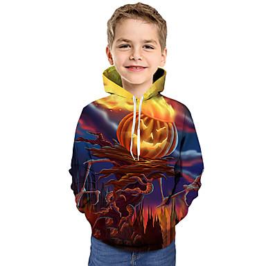 baratos Moletons Para Meninos-Infantil Bébé Para Meninos Activo Básico Feras Fantásticas Geométrica Galáxia Estampado Estampado Manga Longa Moleton & Blusa de Frio Arco-íris
