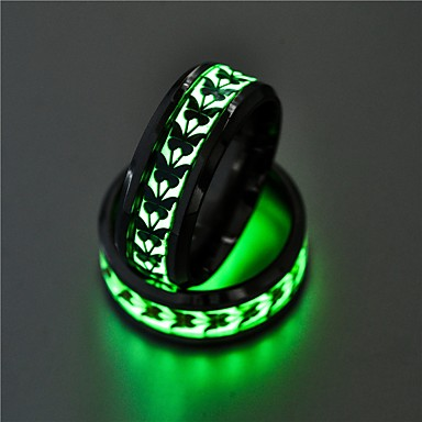 voordelige Herensieraden-Heren Dames Ring Lichtgevende steen 1pc Goud Zilver Roestvast staal Cirkelvormig Vintage Standaard Modieus Lahja Sieraden Kroon Strik
