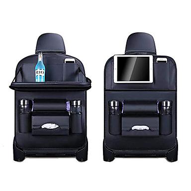 Недорогие Органайзеры для авто-органайзер для хранения задних сидений автомобильный держатель для мусорной сетки многоканальная дорожная сумка вешалка для автокресла вместимость кожаная сумка для универсальных на все годы