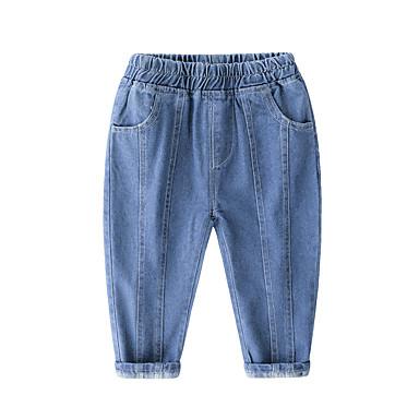 baratos Jeans Para Meninos-Infantil Para Meninos Básico Punk & Góticas Sólido Jeans Azul