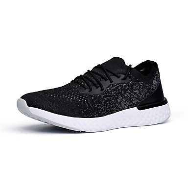 Erkek Ayakkabı Elastik Kumaş Sonbahar Sportif Atletik Ayakkabılar Günlük için Siyah / Siyah ve Beyaz / Beyaz