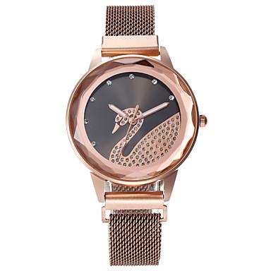 baratos Relógios Homem-Mulheres Relógios de Quartzo Casual Fashion Ouro Rose Lega Chinês Quartzo Preto Branco Rosa Adorável 30 m 1 Pça. Analógico Um ano Ciclo de Vida da Bateria