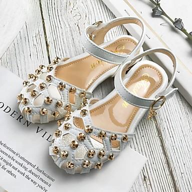 baratos Sapatos de Criança-Para Meninas Sintéticos Sandálias Little Kids (4-7 anos) Conforto Tachas Branco / Rosa claro Verão