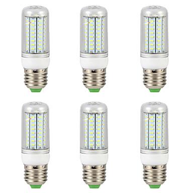 billige Elpærer-6pcs 9 W LED-kornpærer 300 lm E14 G9 GU10 T 72 LED perler SMD 4014 Nytt Design Varm hvit Hvit 220-240 V 110-130 V