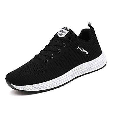 Erkek Ayakkabı Tissage Volant Bahar / Yaz Atletik Ayakkabılar Günlük / Ofis ve Kariyer için Siyah / Siyah ve Beyaz / Siyah / Kırmızı