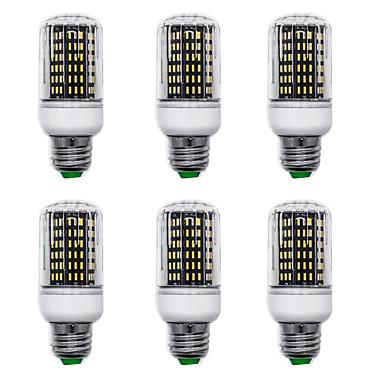 billige Elpærer-6pcs 15 W LED-kornpærer 1500 lm E14 B22 E26 / E27 T 138 LED perler SMD 4014 Nytt Design Varm hvit Hvit 220-240 V 110-120 V