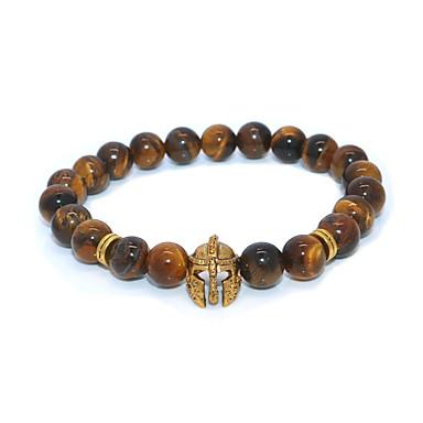 abordables Bracelet-Bracelet à Perles Homme Femme Classique Casque Décontracté / Sport Ethnique Bracelet Bijoux Dorée pour Plein Air