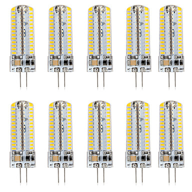 abordables Ampoules électriques-10pcs 5 W LED à Double Broches 500 lm G4 T 104 Perles LED SMD 3014 Design nouveau Blanc Chaud Blanc 220-240 V 110-120 V