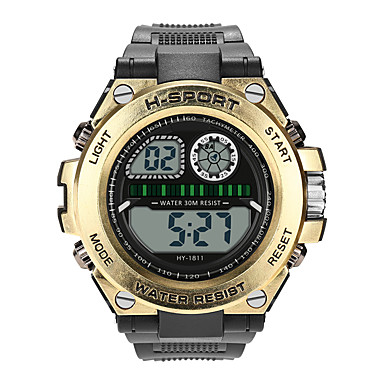 cheap New Arrivals-Boys' Digital Watch Digital Sporty Stylish Leather Black 30 m Water Resistant / Waterproof Noctilucent Casual Watch Digital Casual Fashion - Black White Gold One Year Battery Life