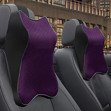 voordelige Auto-interieur accessoires-auto hoofdsteunen hoofdsteunen zwart / paars / bordeaux mesh / kunstleer business voor universeel alle jaren