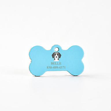 Kişiselleştirilmiş Özelleştirilmiş Beagle Evcil Hayvan Etiketleri Klasik Hediye Günlük 1pcs Doğal Pembe Gök Mavisi Kahve / Lazer Oyma