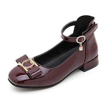 povoljno Cipele za djevojčice-Djevojčice PU Cipele na petu Velika djeca (7 godina +) Obuća za male djeveruše Crn / Lila-roza / Crvena Ljeto