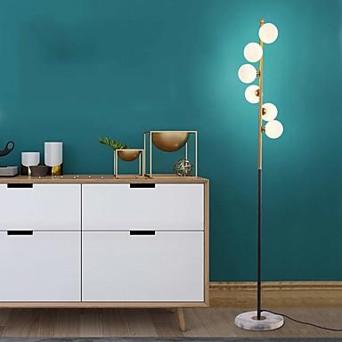 billige Lamper og lampeskjermer-lys luksus ambient gulvlampe nordisk gulvlampe soverom stue kreativ ball postmoderne studie enkel vertikal lampe metall