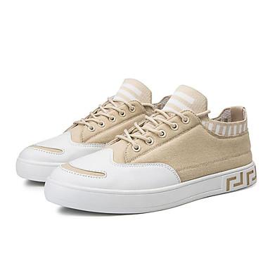 Erkek Ayakkabı Kanvas Sonbahar / İlkbahar yaz Spor Ayakkabısı Günlük / Ofis ve Kariyer için Siyah / Bej / Gri