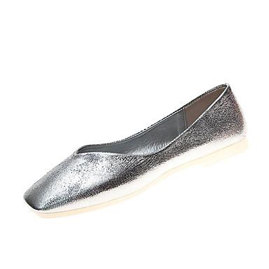 Kadın's Düz Ayakkabılar Düz Taban PU Günlük Yaz Altın / Gümüş