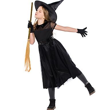 Cadı Kostüm Genç Kız Peri Masalı Teması Cadılar Bayramı Performans Cosplay Kostümleri Tema Partisi Kostümler Genç Kız Dans kostümleri Tül Tül