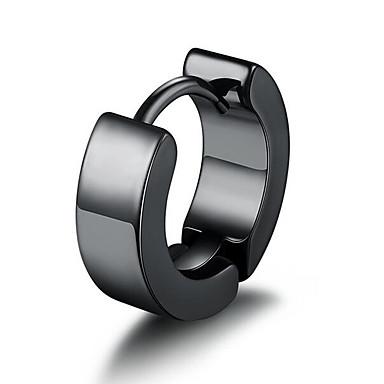 voordelige Herensieraden-Heren Clip oorbellen Klassiek Kostbaar Eenvoudig Modieus Verzilverd oorbellen Sieraden Zwart / Zilver Voor Dagelijks Straat 1pc
