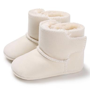 halpa Lasten saappaat-Poikien / Tyttöjen Puuvilla Bootsit Vauvoilla (0-9m) / Taapero (9m-4ys) Ensikengät Musta / Valkoinen / Punainen Talvi