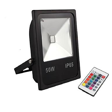 billige Utendørsbelysning-1pc 50 W LED-lyskastere / plen Lights Vanntett / Fjernstyrt / Fargegradering 220-240 V / 110-120 V Courtyard / Have 1 LED perler