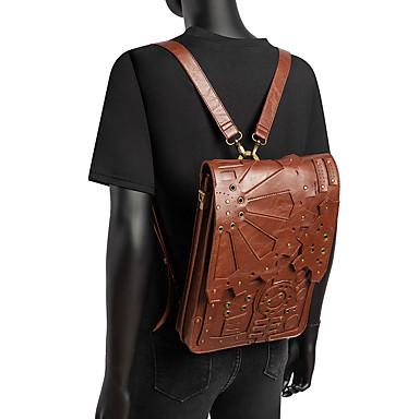 Cosplay Retro / Vintage Steampunk saat mekanizması Maskeli Balo çanta Kadın's Kostüm Kahverengi / Kahve Eski Tip Cosplay Halloween Günlük / Sade