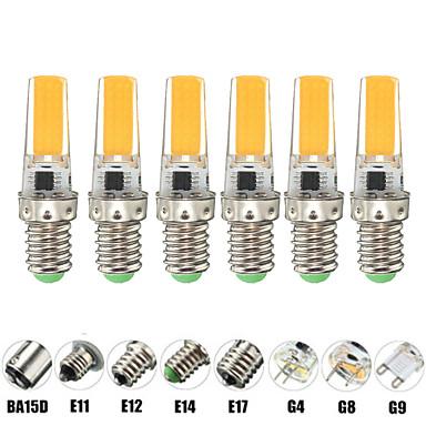 billige Elpærer-6pcs 9 W LED-kornpærer LED-lamper med G-sokkel 900 lm E14 G9 G4 T 1 LED perler COB Nytt Design Varm hvit Hvit 220 V 110 V