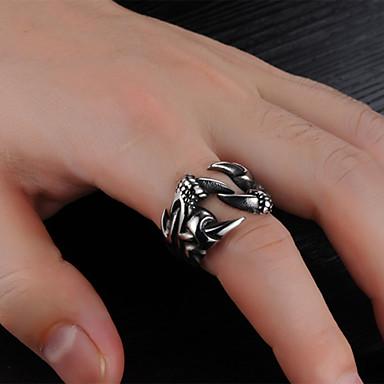 voordelige Herensieraden-Heren Bandring Ring Open Ring 1pc Zilver Roestvast staal Stijlvol Vintage modieus Feest Dagelijks Sieraden Sculptuur