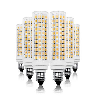 abordables Ampoules électriques-Loende 6 pack 11w gradation led maïs lumières 110-130v 200-240v 750lm e11 136leds led lampe smd2835 blanc / blanc chaud