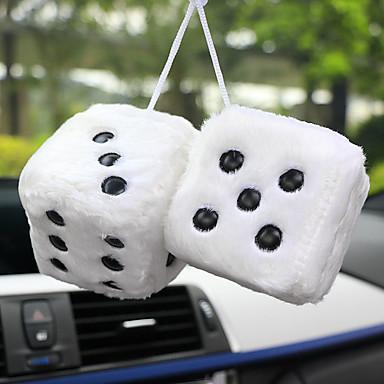 voordelige Auto-interieur accessoires-auto hanger pluche dobbelstenen craps auto's achteruitkijkspiegel opknoping decoratie