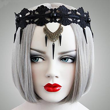 voordelige Dames Sieraden-Dames Sierlijk Statement Vintage Stof Rauta Legering Haarbanden Halloween Club