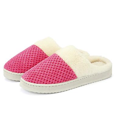 voordelige Damespantoffels & slippers-Dames Slippers & Flip-Flops Creepers Ronde Teen Tricot Informeel Winter Fuchsia / Groen / Roze
