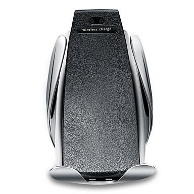 voordelige Automatisch Electronica-automatische s5 auto draadloze mobiele oplader telefoonhouder infrarood snel qi snel auto klemmontage ontluchter voor Samsung Huawei