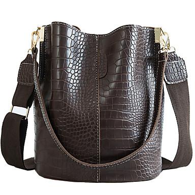 お買い得  バッグ-女性用 PU トップハンドルバッグ 純色 ブラック / グリーン / コーヒー