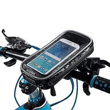 voordelige Auto-interieur accessoires-waterdichte touchscreen telefoon zakje motorfiets fietsen fiets stuur buis mount draaibaar - b