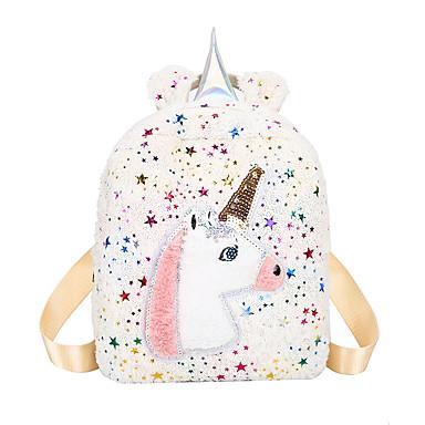 저렴한 가방-남아 / 여아 깃털 / 모피 / 글리터 토끼털 어린이 가방 캐릭터 블랙 / 화이트 / 블러슁 핑크