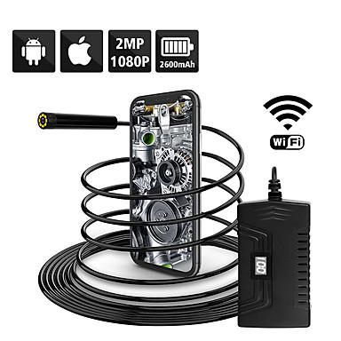 voordelige Test-, meet- & inspectieapparatuur-1080p semi-rigide wifi inspectiecamera 2.0mp hd waterdichte slangcamera met 6 led voor androidios smartphone macbook os