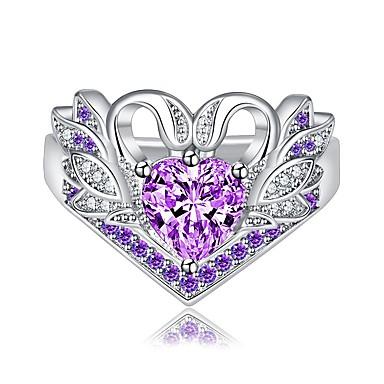 abordables Bague-Femme Bague / Anneaux 1pc Violet / Rouge / Bleu Cuivre Circulaire Basique / Coréen / Mode Cadeau / Vacances Bijoux de fantaisie