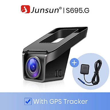 billige Bil DVR-junsun s695.g 4k ultra hd 2160p 30fps bil dvr kamera wifi gps med cpl sony imx335 nat vision dash cam registrator videooptager