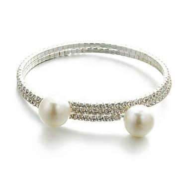 abordables Bracelet-Bracelet Femme Tressé Précieux Mode Bracelet Bijoux Dorée pour Quotidien