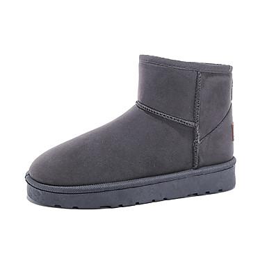 voordelige Dameslaarzen-Dames Laarzen Plateau Ronde Teen PU Herfst winter Zwart / Donkerblauw / Grijs