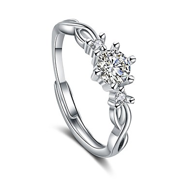 billige Motering-Par Parringer / Ring 1pc Hvit / Sølv Kobber Sirkelformet Grunnleggende / Koreansk / Mote Bryllup / Gave / Love Kostyme smykker