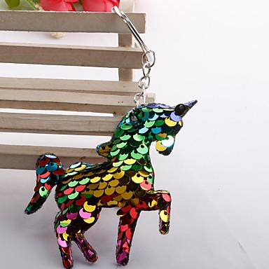 voordelige Dames Sieraden-Sleutelhanger Paard Paardenkop Koreaans Modieus Kleurrijk Modieuze ringen Sieraden Regenboog / Wit / Groen Voor Dagelijks