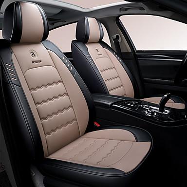 voordelige Auto-interieur accessoires-5 stks / set cartoon leuke vijf auto zitkussens vier seizoenen universele zitkussen coverlinen blended autostoel cover compatibel airbag