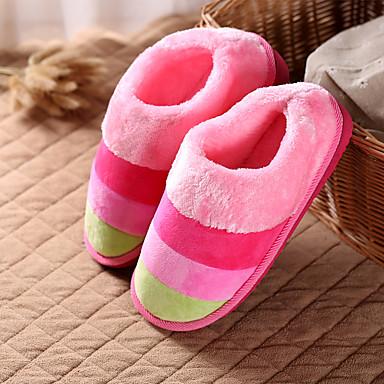 voordelige Damespantoffels & slippers-Dames Slippers & Flip-Flops Creepers Ronde Teen Katoen Informeel Winter Paars / Roze