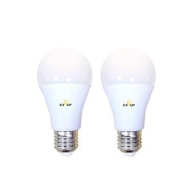 billige Elpærer-EXUP® 2pcs 10 W LED-globepærer 1000 lm B22 E26 / E27 A60(A19) 14 LED perler SMD 2835 Dekorativ Bedårende Kul Varm hvit Kjølig hvit 200-240 V