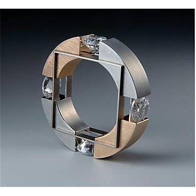 voordelige Herensieraden-Heren Ring Kubieke Zirkonia 1pc Goud Koper Geometrische vorm Modieus Verloving Dagelijks Sieraden meetkundig Gezegend Cool
