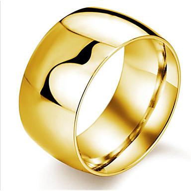 voordelige Herensieraden-Heren Ring 1pc Zwart Gold-Red Zilver Titanium Staal Rond Modieus Dagelijks Festival Sieraden Klassiek donuts Cool