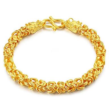 voordelige Dames Sieraden-Heren Dames Armbanden met ketting en sluiting meetkundig Draak Modieus Legering Armband sieraden Goud Voor Lahja Dagelijks