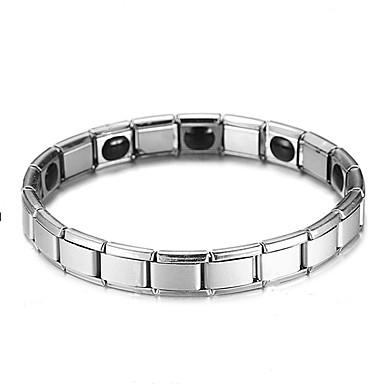 voordelige Herensieraden-Heren Oorbellen / armband Retro Lucky Luxe Klassiek modieus Modieus Titanium Staal Armband sieraden Zilver Voor Lahja Dagelijks Straat Feestdagen Festival