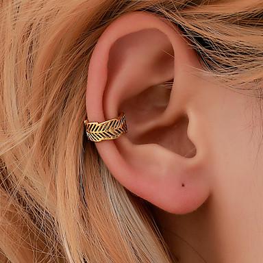 voordelige Dames Sieraden-Dames Clip oorbellen meetkundig Botanisch oorbellen Sieraden Goud / Zilver Voor Feestdagen 1pc