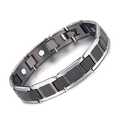 voordelige Herensieraden-Heren Oorbellen / armband Klassiek Lucky Luxe Vintage modieus Gothic Modieus Koper Armband sieraden Zilver / Zwart Voor Lahja Dagelijks Feestdagen Festival